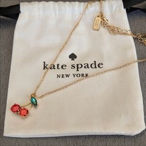 Kate spade cherry necklace 🍒